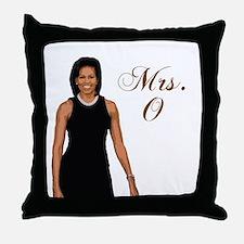 Cute Michelle obama Throw Pillow