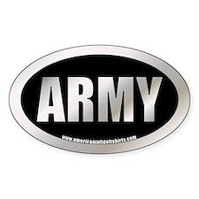 Metalic U.S. Army Oval Decal