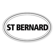 St Bernard Oval Decal