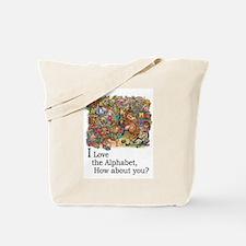 I Love the Alphabet Tote Bag