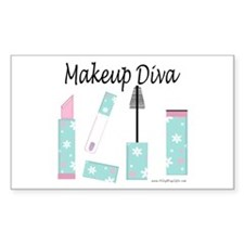 Makeup Diva Rectangle Decal