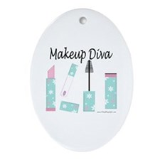 Makeup Diva Oval Ornament
