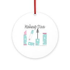Makeup Diva Ornament (Round)