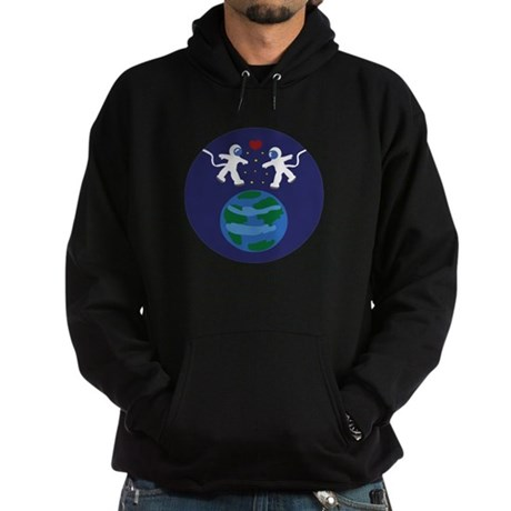 Astronaut Love Hoodie (dark)
