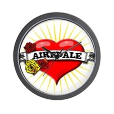 Airedale Heart Wall Clock