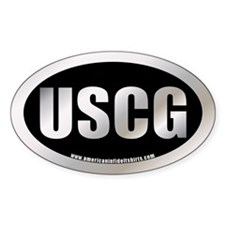 Metalic Coast Guard Oval Decal