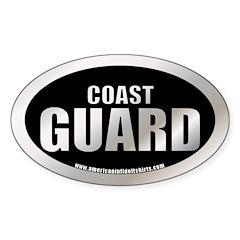 Metalic Coast Guard Oval Decal