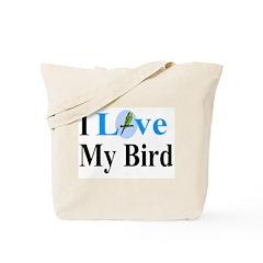 I Love My Bird Tote Bag