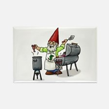 BBQ Gnome Rectangle Magnet