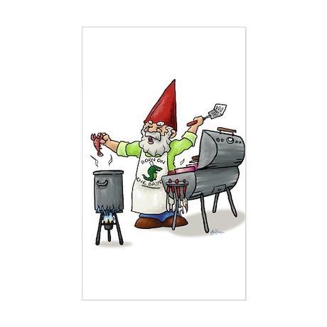 BBQ Gnome Rectangle Sticker