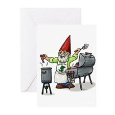 BBQ Gnome Greeting Cards (Pk of 10)
