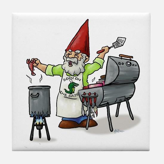 BBQ Gnome Tile Coaster