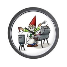 BBQ Gnome Wall Clock