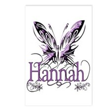 Beautiful Butterfly Hannah Postcards (Package of 8