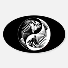 Fish Bone Yang Oval Decal