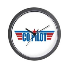 Co Pilot Wings Wall Clock
