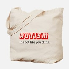 Autism Not Like U Think Tote Bag