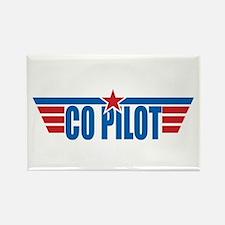 Co Pilot Wings Rectangle Magnet