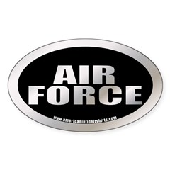 Metalic Air Force Oval Decal