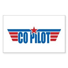 Co Pilot Wings Rectangle Decal
