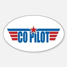 Co Pilot Wings Oval Decal