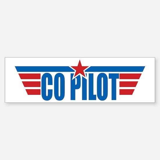 Co Pilot Wings Bumper Bumper Bumper Sticker