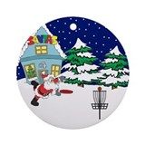 Disc golf Round Ornaments