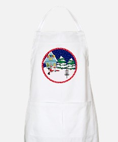 Santa Disc Golf Christmas BBQ Apron