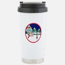 Santa Disc Golf Christmas Travel Mug