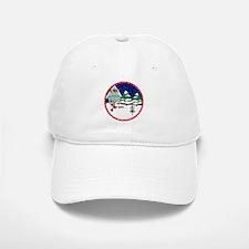 Santa Disc Golf Christmas Baseball Baseball Cap