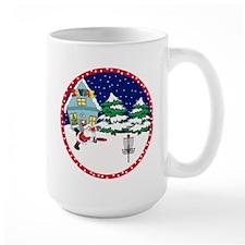 Santa Disc Golf Christmas Mug