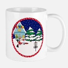 Santa Disc Golf Christmas Mug