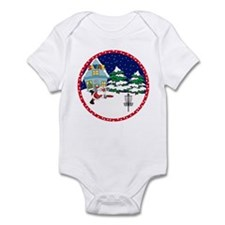 Santa Disc Golf Christmas Infant Bodysuit