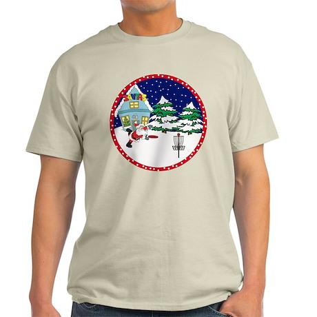 Santa Disc Golf Christmas Light T-Shirt