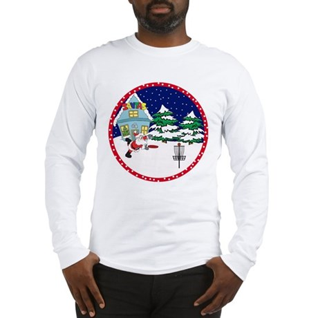 Santa Disc Golf Christmas Long Sleeve T-Shirt