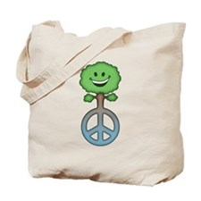 Tree Hugs for Peace Tote Bag