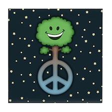Tree Hugs for Peace Tile Coaster