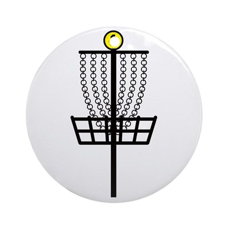 Disc Golf Hole Ornament (Round)