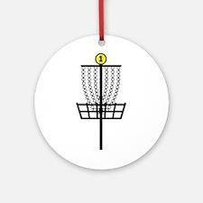 Disc Golf Hole Ornament (Round)