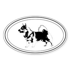 Vallhund Silhouette Oval Stickers
