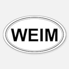 Weimaraner Oval Decal