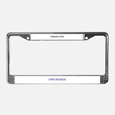 Mining License Plate Frame