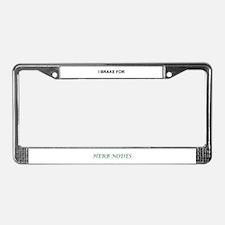 Herbalism License Plate Frame