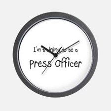 I'm training to be a Press Officer Wall Clock