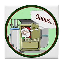 Santa Lost? Tile Coaster