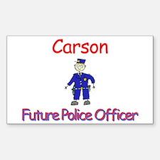 Carson - Future Police Rectangle Decal
