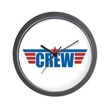 Aviation Crew Wings Wall Clock