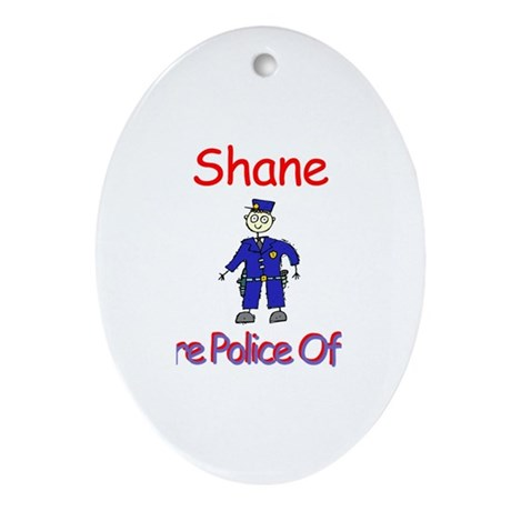 Shane - Future Police Oval Ornament