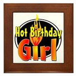 Hot Birthday Girl Framed Tile