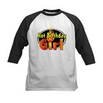 Hot Birthday Girl Kids Baseball Jersey